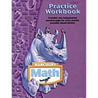 Harcourt Math: Practice Workbook, Grade 4 0153364769 Book Cover