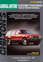 GM Blazer/Jimmy/Typhoon/Bravada   1983-93 (Chilton's Total Car Care Repair Manual) 0801991102 Book Cover