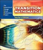 UCSMP Transition Mathematics: Teacher's Edition, Vol. 1, Chapters 1-6 0076109992 Book Cover