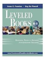 Leveled Books, K-8: Matching Texts to Readers for Effective Teaching 0325008183 Book Cover