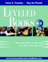 The Fountas & Pinnell Leveled Book List, K-8+: 2009-2011 Edition, Print Version 0325026084 Book Cover