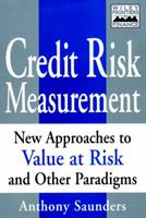 Credit Risk Measurement: New Approaches to Value at Risk and Other Paradigms, 1st Edition 0471350842 Book Cover