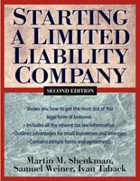Starting a Limited Liability Company 0471133655 Book Cover