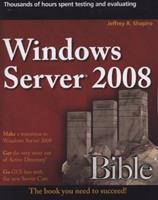 Windows Server 2008 Bible 0470170697 Book Cover
