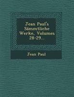 S�mmtliche Werke, Volumes 28-29 1249640806 Book Cover
